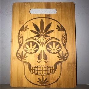 Plant sugar skull Mexican canna cutting board USA